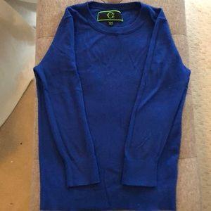 Royal blue C. Wonder sweater.  3/4 length sleeves.